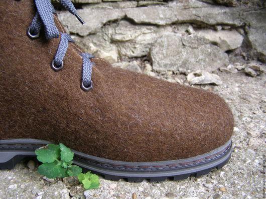 """Обувь ручной работы. Ярмарка Мастеров - ручная работа. Купить Ботинки """"Богатырь"""". Handmade. Коричневый, валенки, ботинки валяные"""