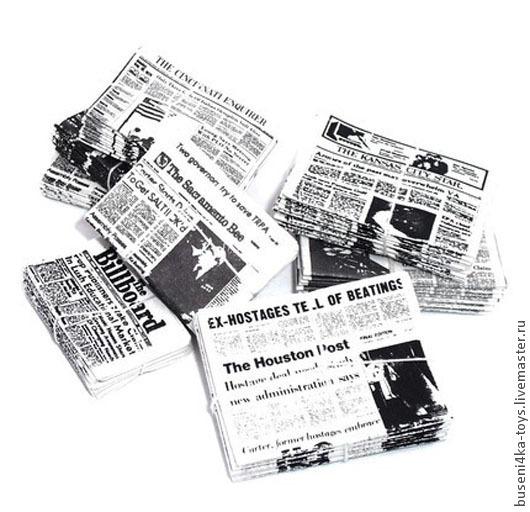 Куклы и игрушки ручной работы. Ярмарка Мастеров - ручная работа. Купить Связки газет, набор из 2шт (25-35мм). Handmade.