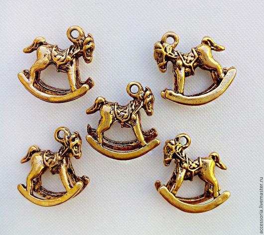 Подвеска Лошадка 15 * 16 мм. Цвет:античное золото.