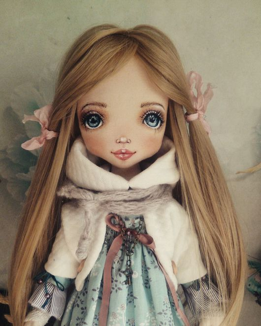 Коллекционные куклы ручной работы. Ярмарка Мастеров - ручная работа. Купить Ксения. Handmade. Кукла, авторская кукла, хлопок