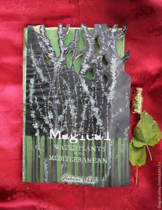 """Субкультуры ручной работы. Ярмарка Мастеров - ручная работа. Купить Книга """"Магические растения"""" из Гарри Поттера. Handmade. Черный, тишью"""