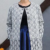 Одежда handmade. Livemaster - original item Easy combo jacquard coat. Handmade.