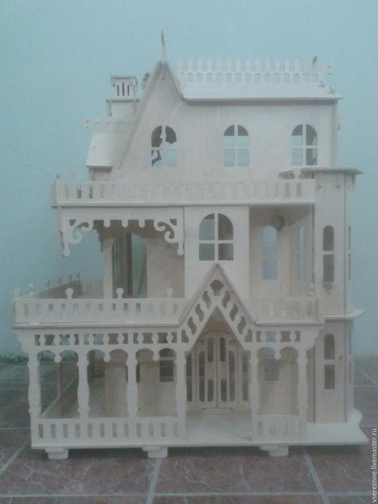 """Кукольный дом ручной работы. Ярмарка Мастеров - ручная работа. Купить Кукольный дом 3D конструктор """"Дом мечты"""". Handmade."""