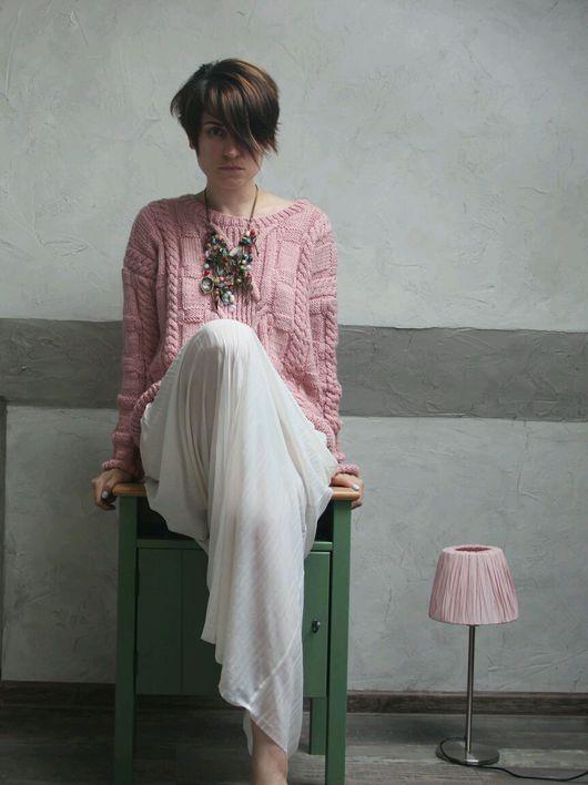 Кофты и свитера ручной работы. Ярмарка Мастеров - ручная работа. Купить Джемпер Cozy Pink. Handmade. Свитер, бохо, актуальный