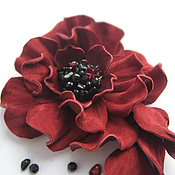 Украшения handmade. Livemaster - original item The colors of the skin.Decoration brooch pin CAMELIA VIP.BURGUNDY FLOWER. Handmade.