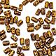 Для украшений ручной работы. Ярмарка Мастеров - ручная работа. Купить Чешские бусины Rulla, Желтый мрамор, Рулла Чехия, 5гр. Handmade.