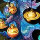 Новый год 2017 ручной работы. Звездная Ёлочка - настольная новогодняя елочка смнабором шариков. Лавка волшебностей (charmedstore). Ярмарка Мастеров.