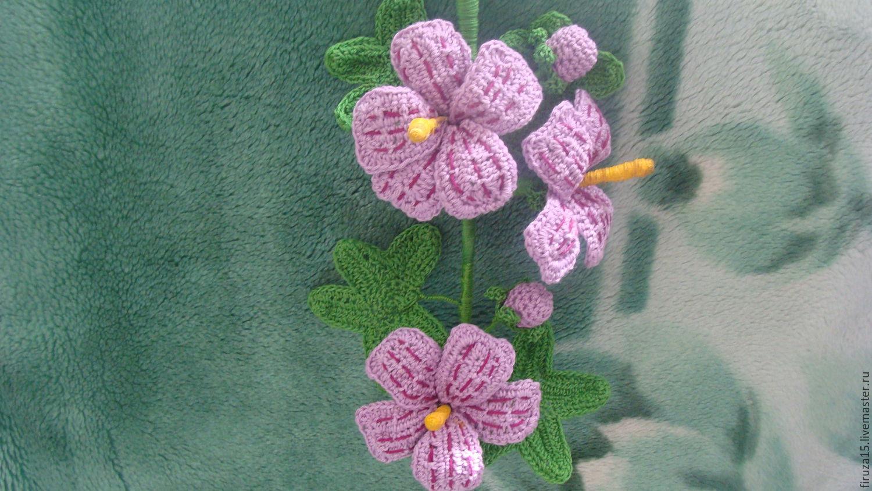 вязаные цветы купить в интернет магазине на ярмарке мастеров с