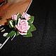 """Броши ручной работы. Мини-брошь """"Букетик любимых роз"""". Натали. Ярмарка Мастеров. Букетик роз"""