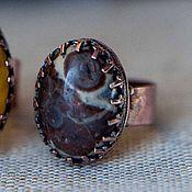 Украшения ручной работы. Ярмарка Мастеров - ручная работа Медное кольцо с яшмой. Handmade.