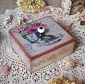 Для дома и интерьера ручной работы. Ярмарка Мастеров - ручная работа У цветочной феи (1) шкатулка.. Handmade.