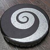 Музыкальные инструменты handmade. Livemaster - original item Spiral silver. Tambourine Vedic. 30 cm. Handmade.