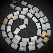 Работы для детей, handmade. Livemaster - original item Beads of jade 56 cm Solar mint. Handmade.