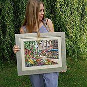 Картины ручной работы. Ярмарка Мастеров - ручная работа Рынок в Париже. Handmade.