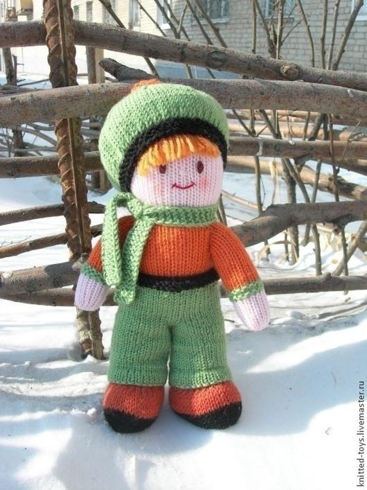 Человечки ручной работы. Ярмарка Мастеров - ручная работа. Купить Вязаная кукла  из шерсти Егорка. Handmade. Вязаная игрушка, игрушка