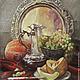 """Натюрморт ручной работы. Ярмарка Мастеров - ручная работа. Купить """"Сладкой дыни аромат"""". Handmade. Натюрморт, фрукты, картина маслом"""