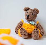 Куклы и игрушки ручной работы. Ярмарка Мастеров - ручная работа Мишка в желтой постельке. Handmade.