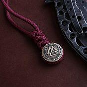 Сувениры и подарки handmade. Livemaster - original item Bead lanyard will walknut ,bead for paracord will valknut. Handmade.