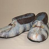 """Обувь ручной работы. Ярмарка Мастеров - ручная работа Мужские валяные чуни """"Кошачий окрас"""". Handmade."""