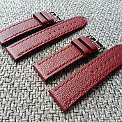 handmade. Livemaster - original item Burgundy watchband. Handmade.