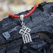 Русский стиль handmade. Livemaster - original item Amulet pendant Chur 925 silver. Handmade.