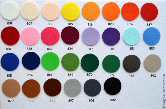 Другие виды рукоделия ручной работы. Ярмарка Мастеров - ручная работа. Купить ЖЕСТКИЙ корейский фетр отдельными листами 66х110см. Handmade.