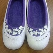 """Обувь ручной работы. Ярмарка Мастеров - ручная работа Тапочки """"Новогодние"""". Handmade."""
