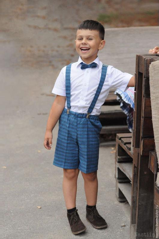 Одежда для мальчиков, ручной работы. Ярмарка Мастеров - ручная работа. Купить Нарядный комплект для мальчика: кепка, бабочка и шорты на подтяжках. Handmade.