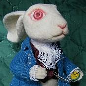 Куклы и игрушки ручной работы. Ярмарка Мастеров - ручная работа Белый кролик, войлочный. Handmade.