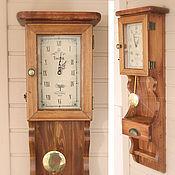 """Для дома и интерьера ручной работы. Ярмарка Мастеров - ручная работа Настенные часы с маятником и двумя отделениями для хранения """"Toscana"""". Handmade."""