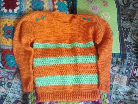 """Кофты и свитера ручной работы. Ярмарка Мастеров - ручная работа. Купить Детский свитер """"Непоседа"""". Handmade. Комбинированный, свитер вязаный"""