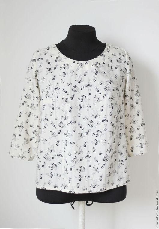 Блузки ручной работы. Ярмарка Мастеров - ручная работа. Купить Блуза женская. Нежнейший хлопок с шелковой нитью. Handmade. Блуза