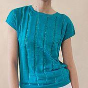 Одежда handmade. Livemaster - original item Biruza cashmere pullover. Handmade.