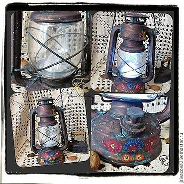 Для дома и интерьера ручной работы. Ярмарка Мастеров - ручная работа Лампа керосиновая настольная,,Бабушкина лампа,,. Handmade.