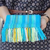 Работы для детей, ручной работы. Ярмарка Мастеров - ручная работа Детский домотканый шарф aque. Handmade.
