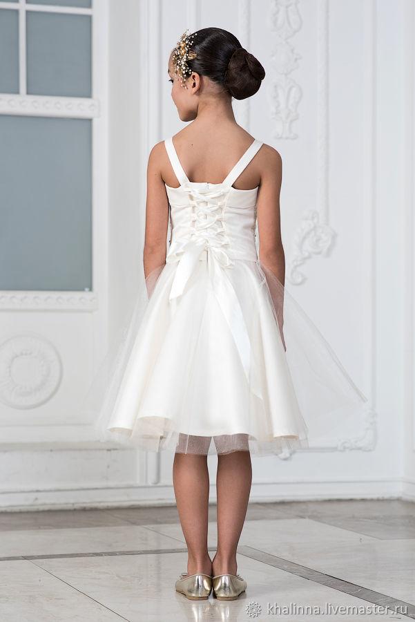 Платье айвори с жемчужинами
