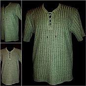 Одежда handmade. Livemaster - original item 100% linen Shirt Closed paths .Long sleeve 500 rubles. Handmade.