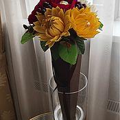 """Цветы и флористика ручной работы. Ярмарка Мастеров - ручная работа Букет в конусе """"Танго осени"""". Handmade."""