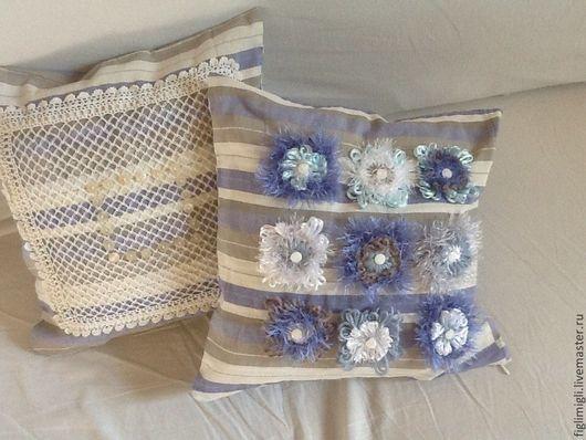 Текстиль, ковры ручной работы. Ярмарка Мастеров - ручная работа. Купить комплект из 2-х чехлов на подушки. Handmade. Подушка