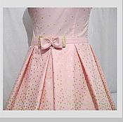 Одежда ручной работы. Ярмарка Мастеров - ручная работа Летнее платье из американского хлопка. Handmade.