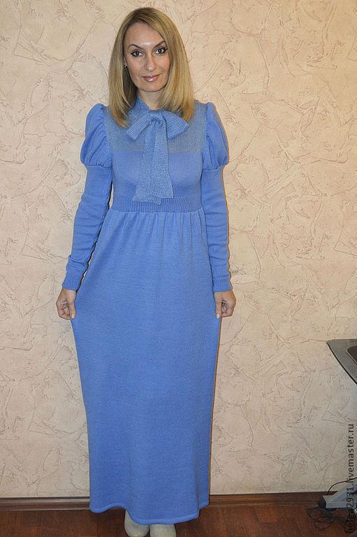 Платья ручной работы. Ярмарка Мастеров - ручная работа. Купить Платье в стиле Ампир. Handmade. Голубой, женственность, полушерсть