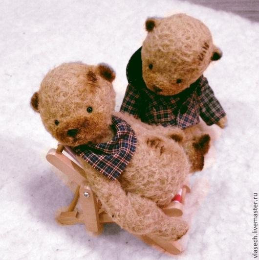 Мишки Тедди ручной работы. Ярмарка Мастеров - ручная работа. Купить Девочка и мальчик Картошкины. Handmade. Коричневый, игрушка из шерсти