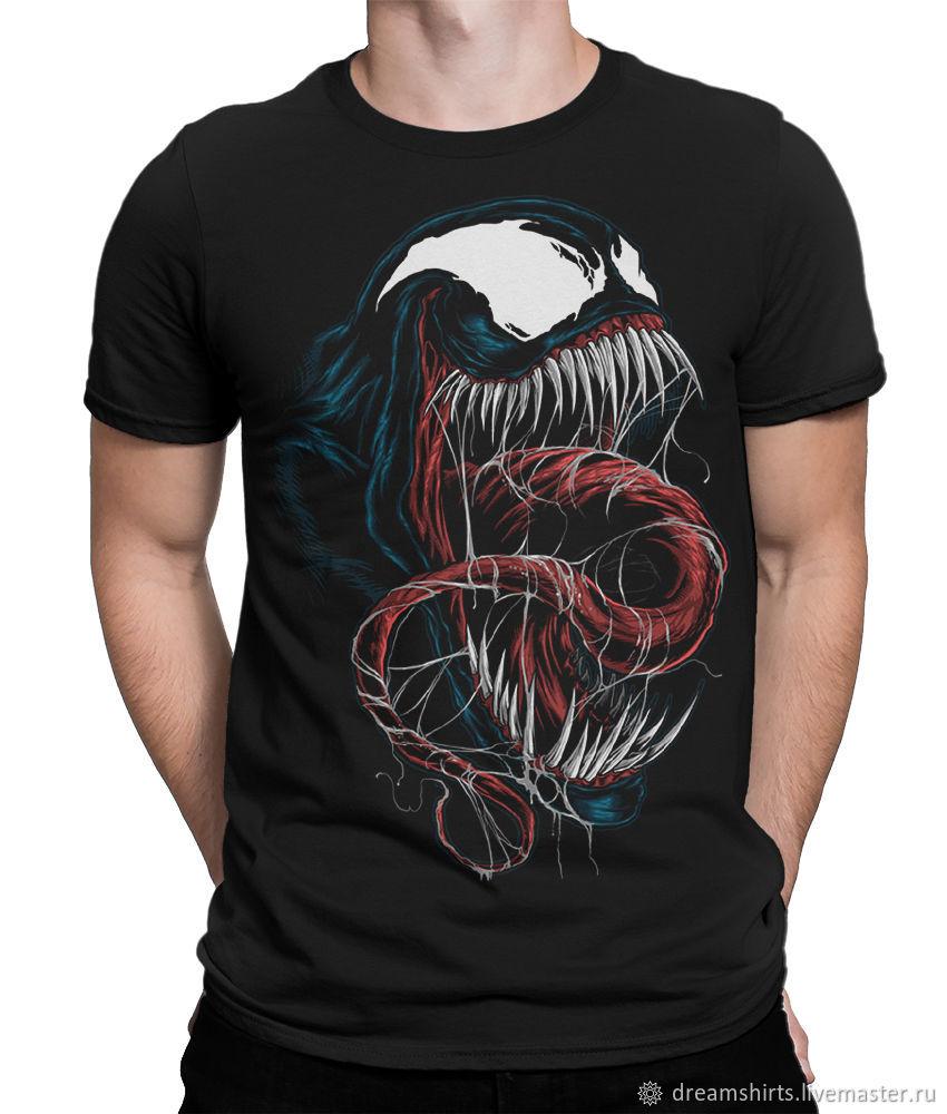 "Футболка с принтом ""Venom"", T-shirts, Moscow,  Фото №1"