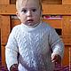 Одежда унисекс ручной работы. Свитер детский белый косами. Knitted Sea. Ярмарка Мастеров. Свитер для мальчика, свитерок