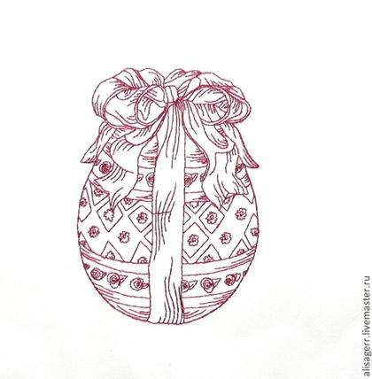 Открытки и скрапбукинг ручной работы. Ярмарка Мастеров - ручная работа Пасхальный купон с вышивкой. Handmade.