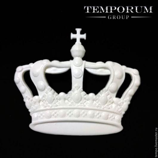 АРТ: 3207 Декоративный элемент. Корона с крестом. Заготовка для декупажа, росписи и декора. Заготовка из пластика.
