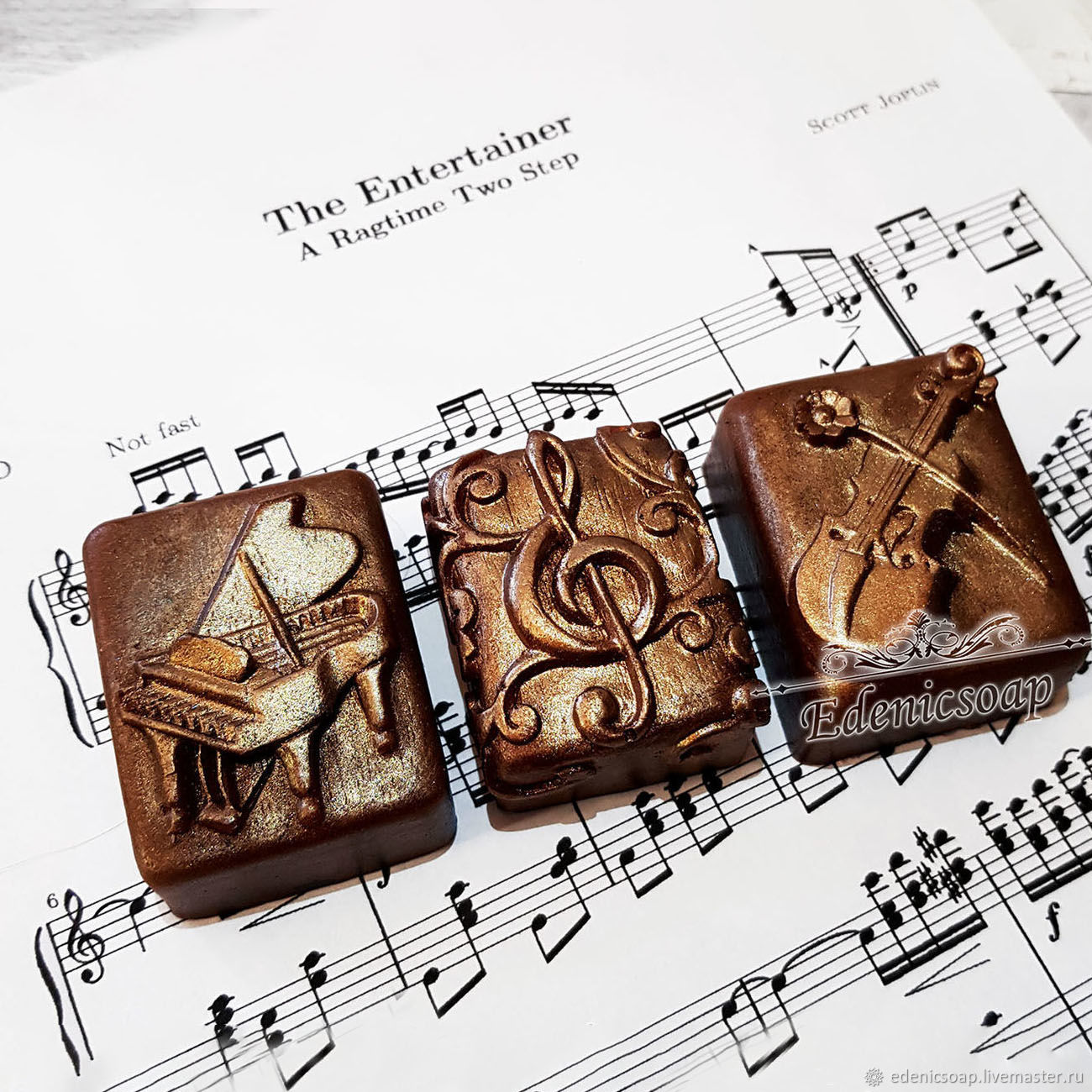 Care Gift Sets handmade. Livemaster - handmade. Buy 'Music' handmade soap set notes a brown interior.notes
