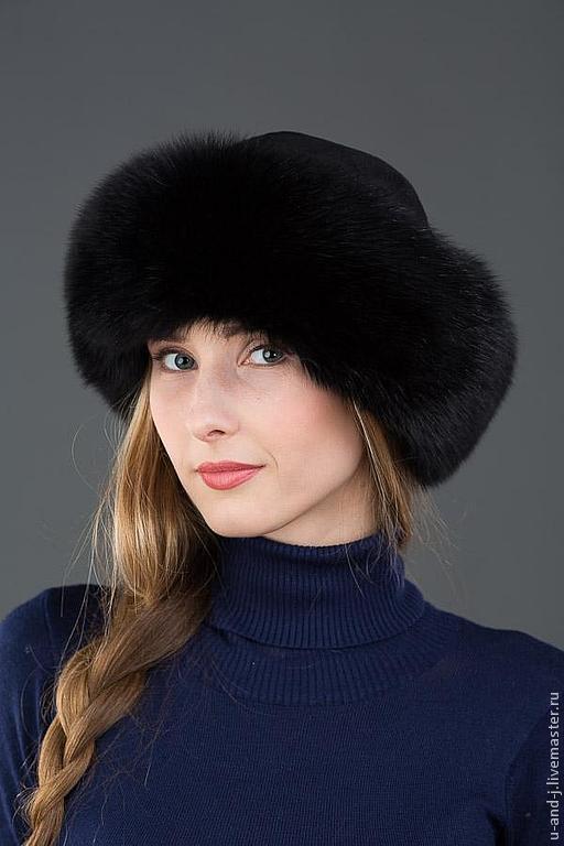 Меховая шапка Боярка из песца и стриженной норки, Аксессуары, Москва, Фото №1