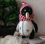 Мягкие игрушки ручной работы. Ярмарка Мастеров - ручная работа Пингвинчик Тедди. Handmade.