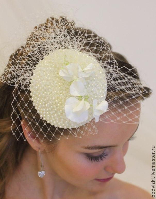 Clothing   Accessories handmade. Livemaster - handmade. Buy Wedding hat for  bride  Audrey ... e8f10fcf815